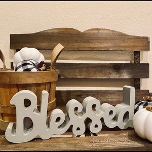 Farmhouse Blessed Sign for Tiered tray